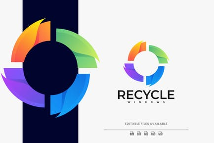 Recycle Colorful Logo