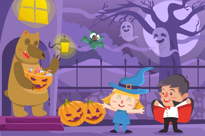 Thumbnail for Хэллоуин - Вектор иллюстрация