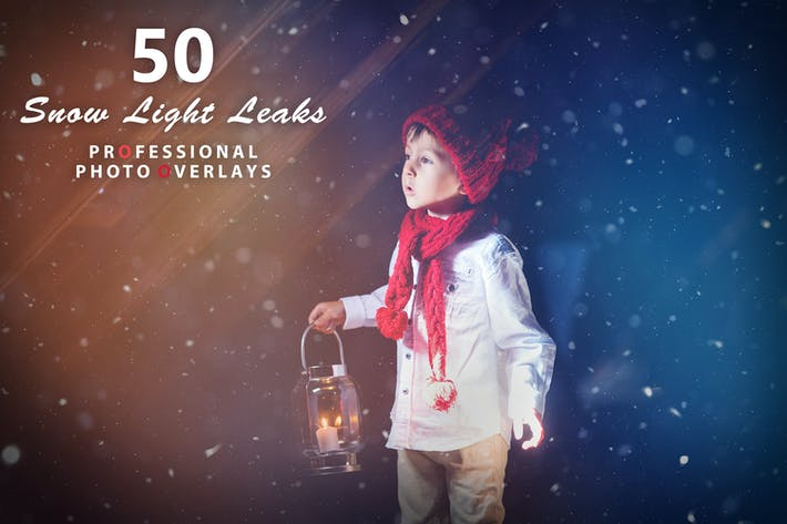 Thumbnail for 50 Снежный свет утечки Фото наложения