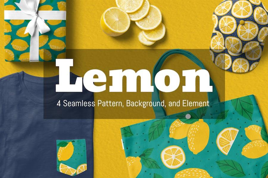 Lemon Seamless Muster