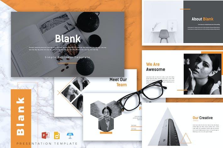 Thumbnail for BLANK - Creative Powerpoint/Google Slide/Keynote