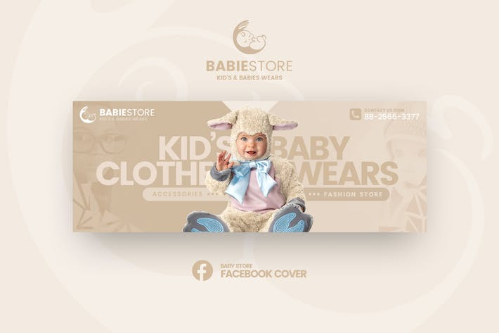 Thumbnail for Babiestore - Kid's & Baby Fashion Facebook Cover