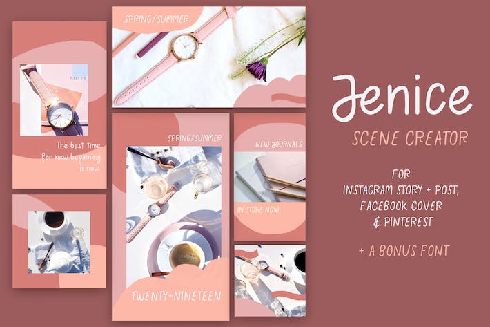 Thumbnail for Jenice Social Media Template Kit