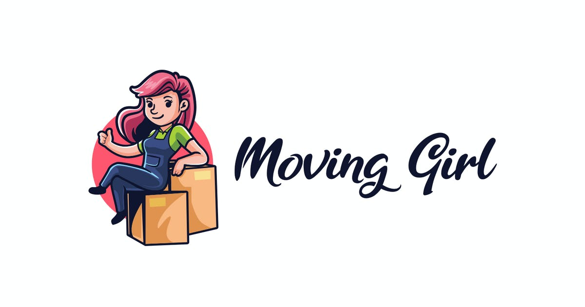 Download Moving Girl - Moving and Storage Service Logo by Suhandi