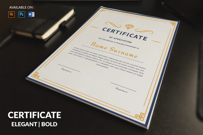 Thumbnail for Bold Multipurpose Certificates