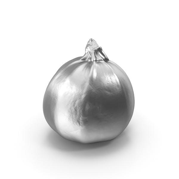 Silberne runde Zucchini