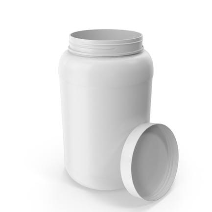 Botella de plástico de boca ancha 1,5 galones blanco abierto