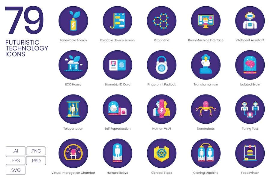Futuristic Technology Icons