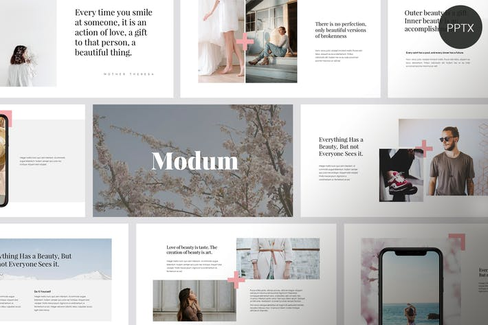 Cover Image For Modum - Clean & Minimal Powerpoint Template