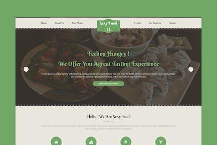 Sexy Food - Food & Restaurant PSD Template