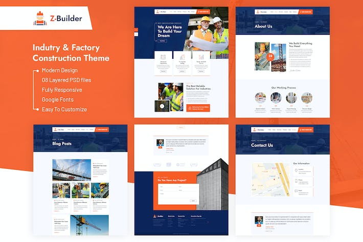 Thumbnail for Z-Builder - Construction PSD Template