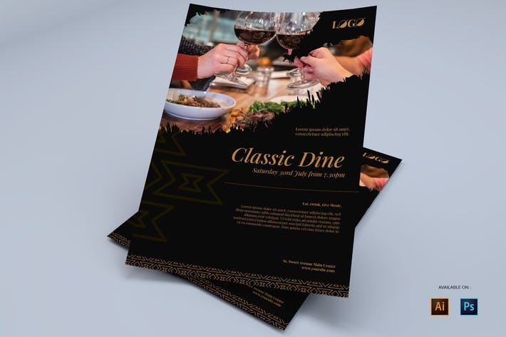 Classic Dine - Flyers Design