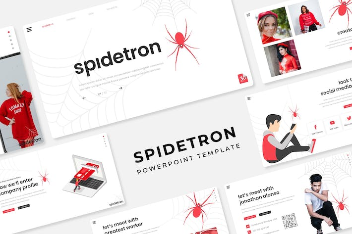 Thumbnail for Spidetron - PowerPoint Template