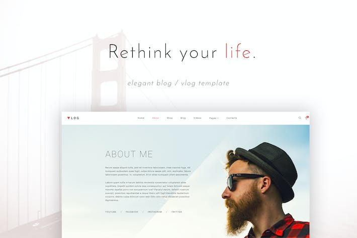 Cover Image For VSVlog - Elegant Vlog / Blog Template