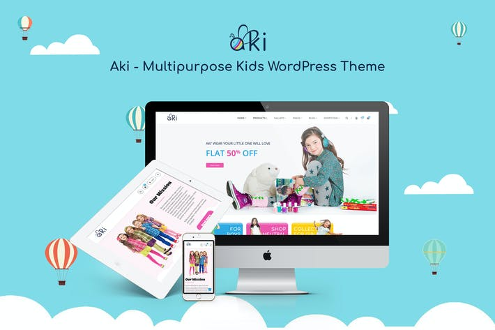 Thumbnail for Aki - Mehrzweck Kinder WordPress Thema