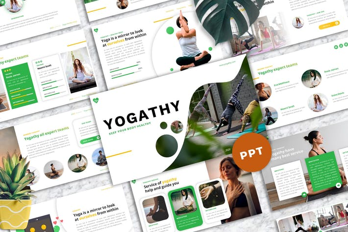 Yogathy - Yoga PowerPoint Template
