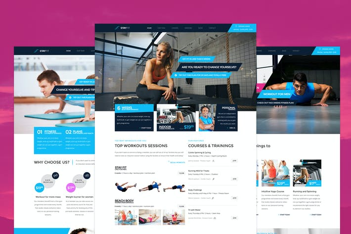 Thumbnail for Stayfit - Fitness PSD Template
