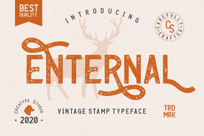 Thumbnail for Enternal Vintage Stamp Typeface