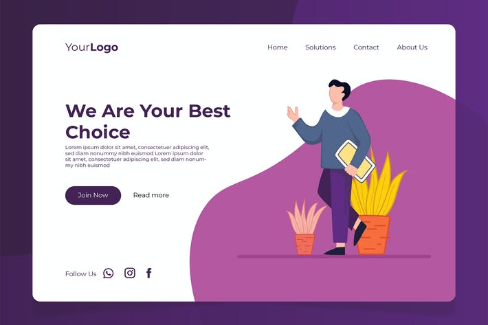 Thumbnail for Solutions - Banner & Landing Page