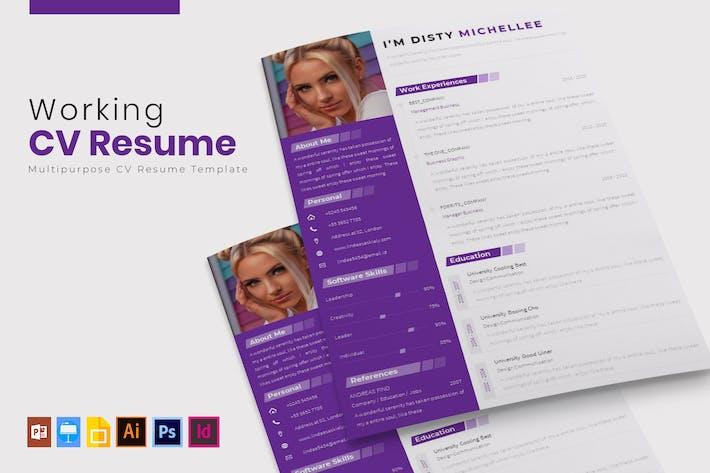 Thumbnail for Working   CV & Resume