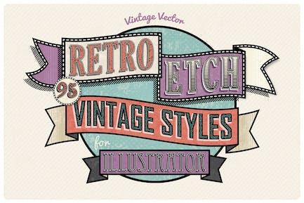 Retro Etch - Vintage Layer Styles