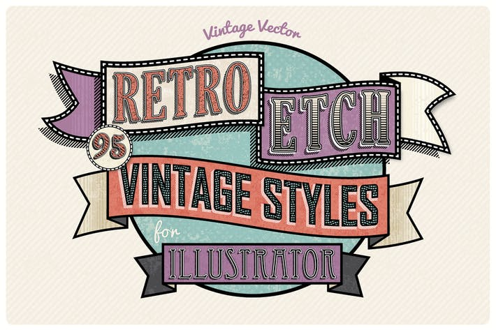 Thumbnail for Retro Etch - Vintage Layer Styles