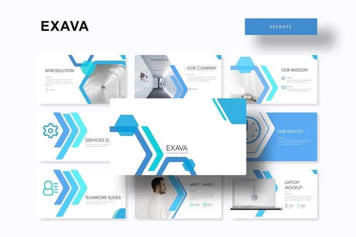 Cover Image For Exava - Keynote Template