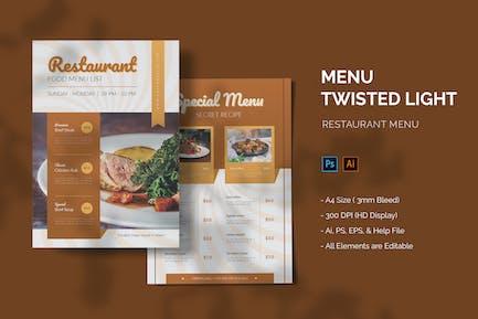 Twisted Light - Restaurant Menu