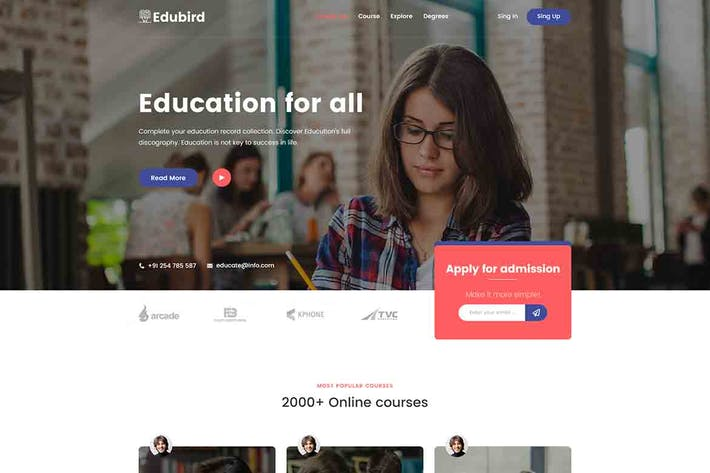 Thumbnail for Edukin - Education HTML Template