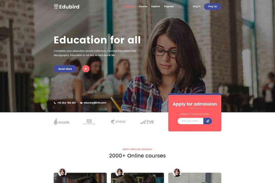 Edukin - Education HTML Template