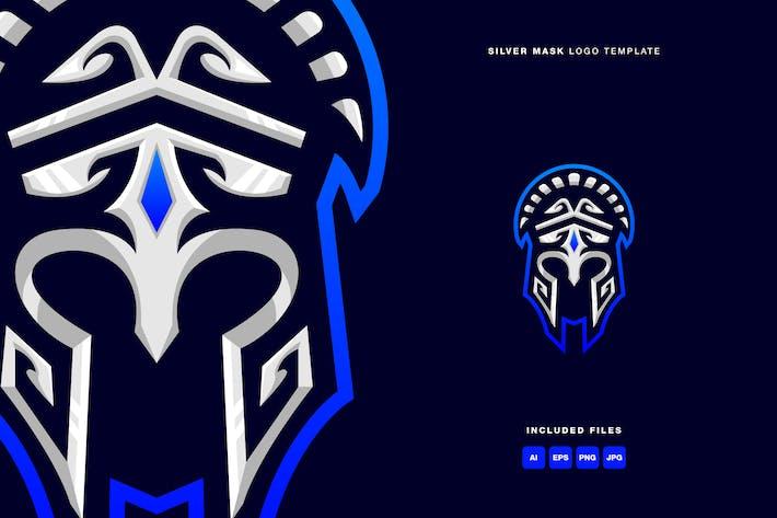 Silver Mask Logo Template