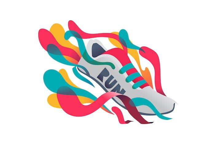 Thumbnail for Running Graphic splash