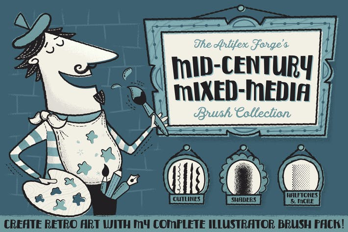 Thumbnail for Mid-Century Mixed Media Collection