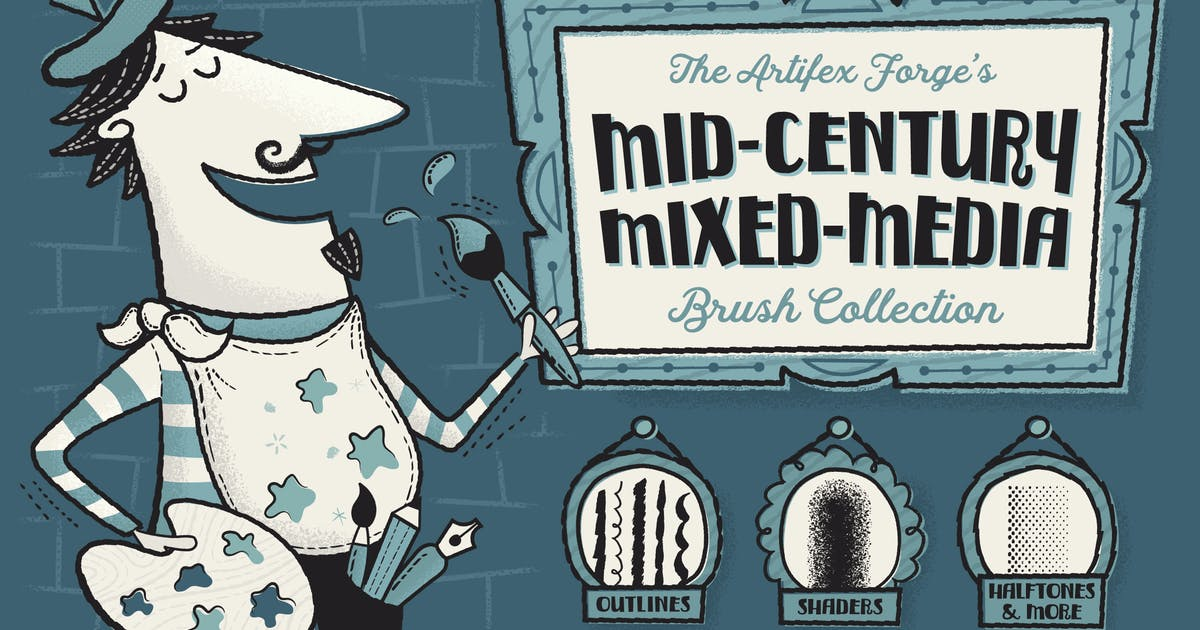 Download Mid-Century Mixed Media Collection by JRChild