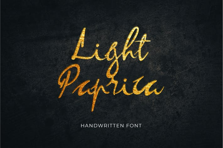 Light Paprica Calligraphy