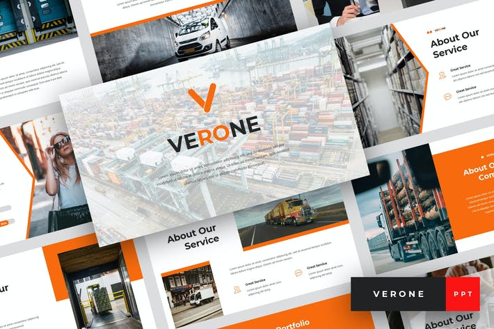 Thumbnail for Verone - Logistics PowerPoint Template