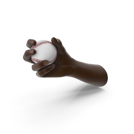Hand Holding Baseball Ball