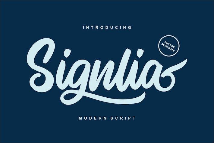 Thumbnail for Signlia | Fuente de escritura moderna