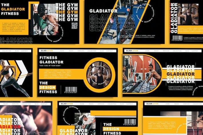 Thumbnail for ГЛАДИАТОР - Спорт Powerpont Шаблон
