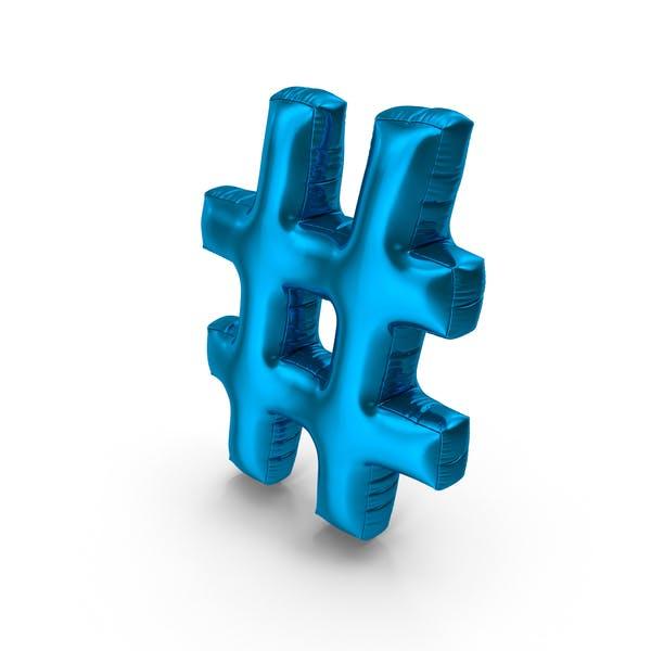Foil Balloon Hashtag