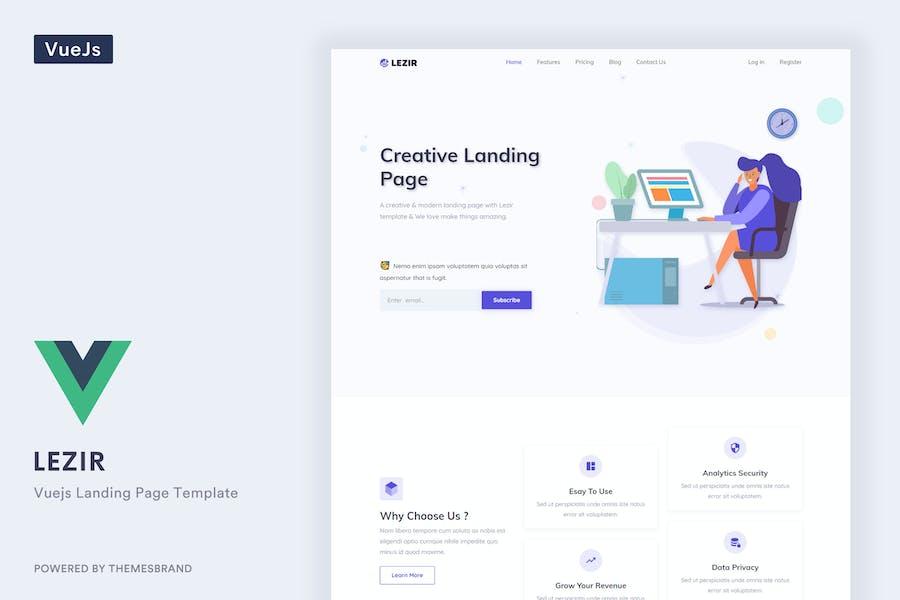 Lezir - Vuejs Landing Page Template