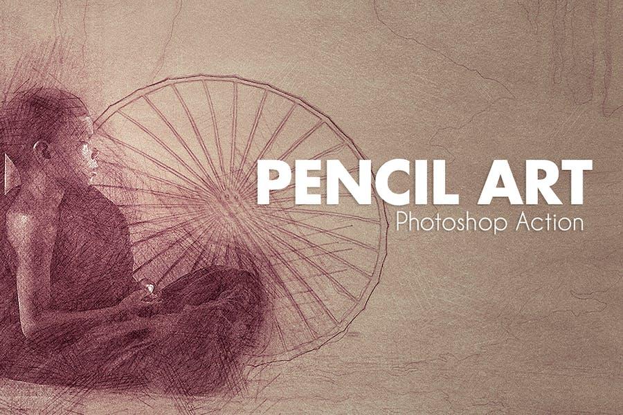 Pencil Art - Photoshop Actions
