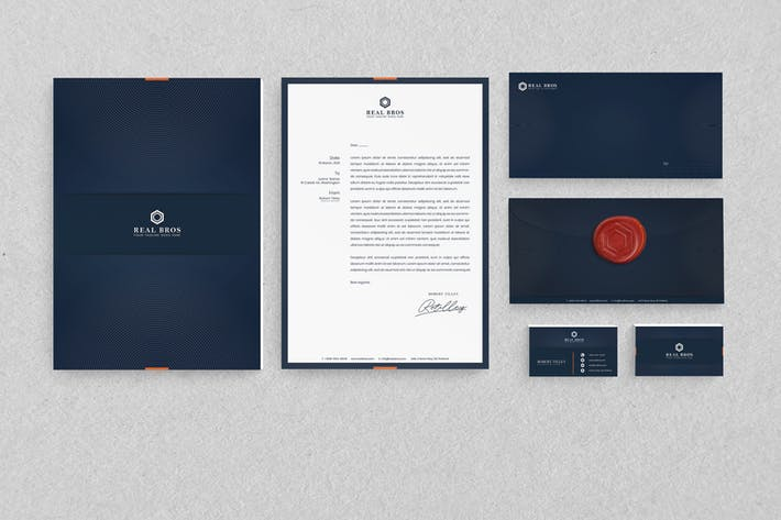 Thumbnail for Real Bros Branding Identity & Stationery Pack