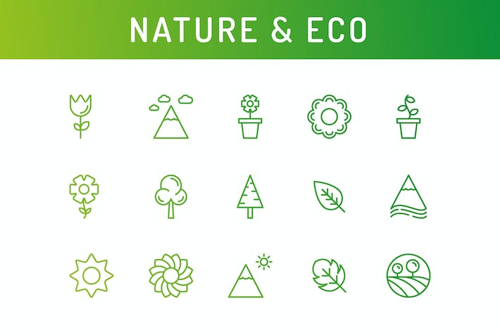 Thumbnail for Nature and eco Icons
