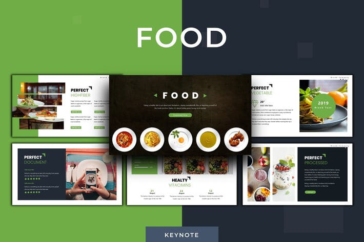 Thumbnail for Food - Keynote Template