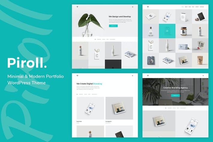 Cover Image For Piroll - Portfolio WordPress Theme