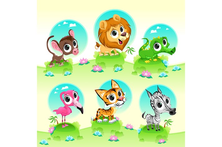Thumbnail for Wild Animals with Background