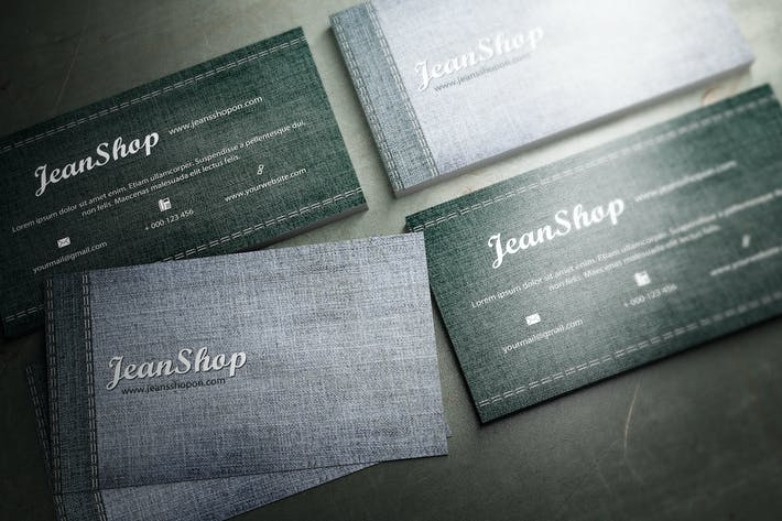 Download 9 jeans graphic templates envato elements thumbnail for jeans denim business card design reheart Image collections