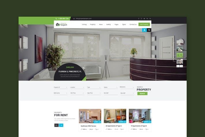 Thumbnail for Property Expert - Real Estate PSD Template