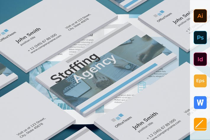 Thumbnail for Staffing Agency Business Card